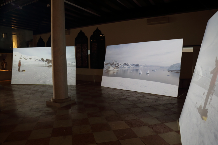 Antarctic Pavilion, 57th Venice Biennale of Art. General exhibition shot. Photo: Emer O Boyle.