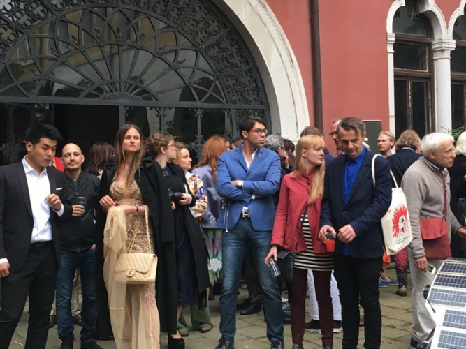 Vernissage at the Antarctic Pavilion, 57th Venice Biennale of Art, May 2017.