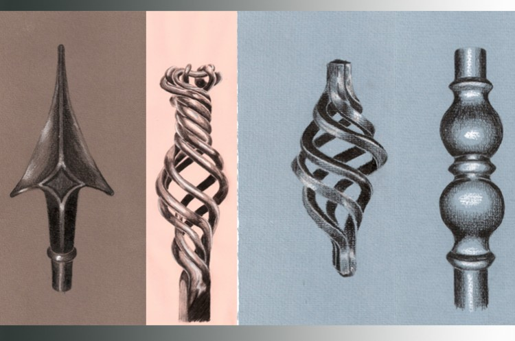 Preparatory drawings, Meadhbh O'Connor, 2015. Pencil and chalk on paper.