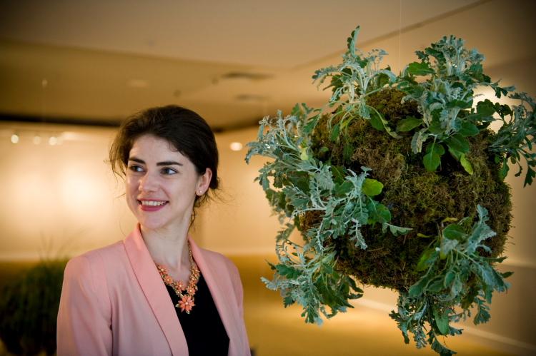 Portrait photo of artist Méadhbh O'Connor at Dublin Biennial 2014. Copyright Natalie Lim 2014.