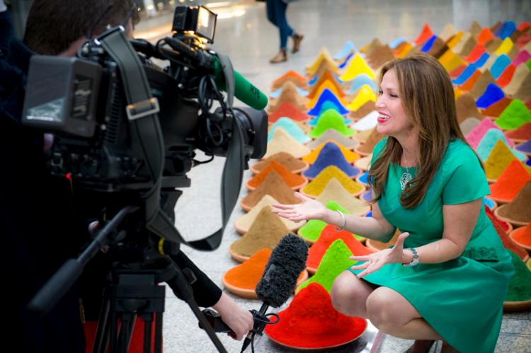 Sonia Falcone speaks to RTE News, Dublin Biennial 2014. Copyright Natalie Lim.