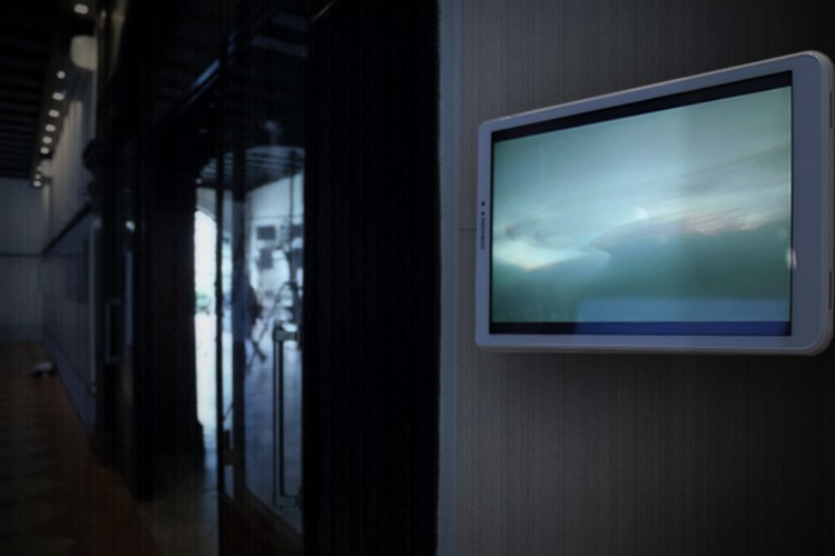 'Climate Simulator Phase I', by Méadhbh O'Connor. Presented on wall mounted tablets.