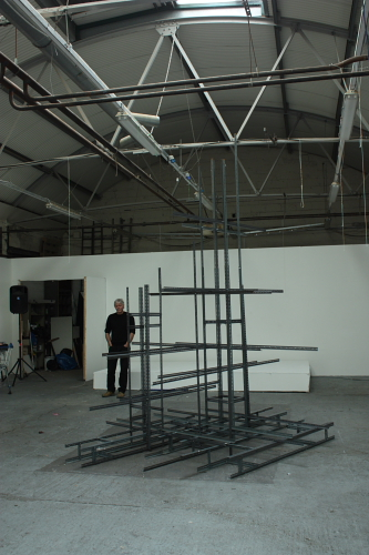 Test work for a joint sculptural installation by Méadhbh O'Connor and Dave Madigan whch was presented at the Mermaid Arts Centre, 2014.